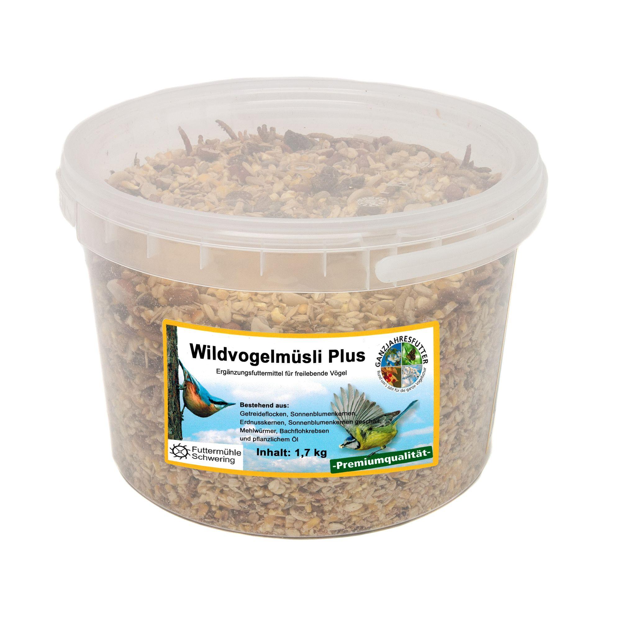 Wildvogelmüsli PLUS, 1,7 kg Eimer