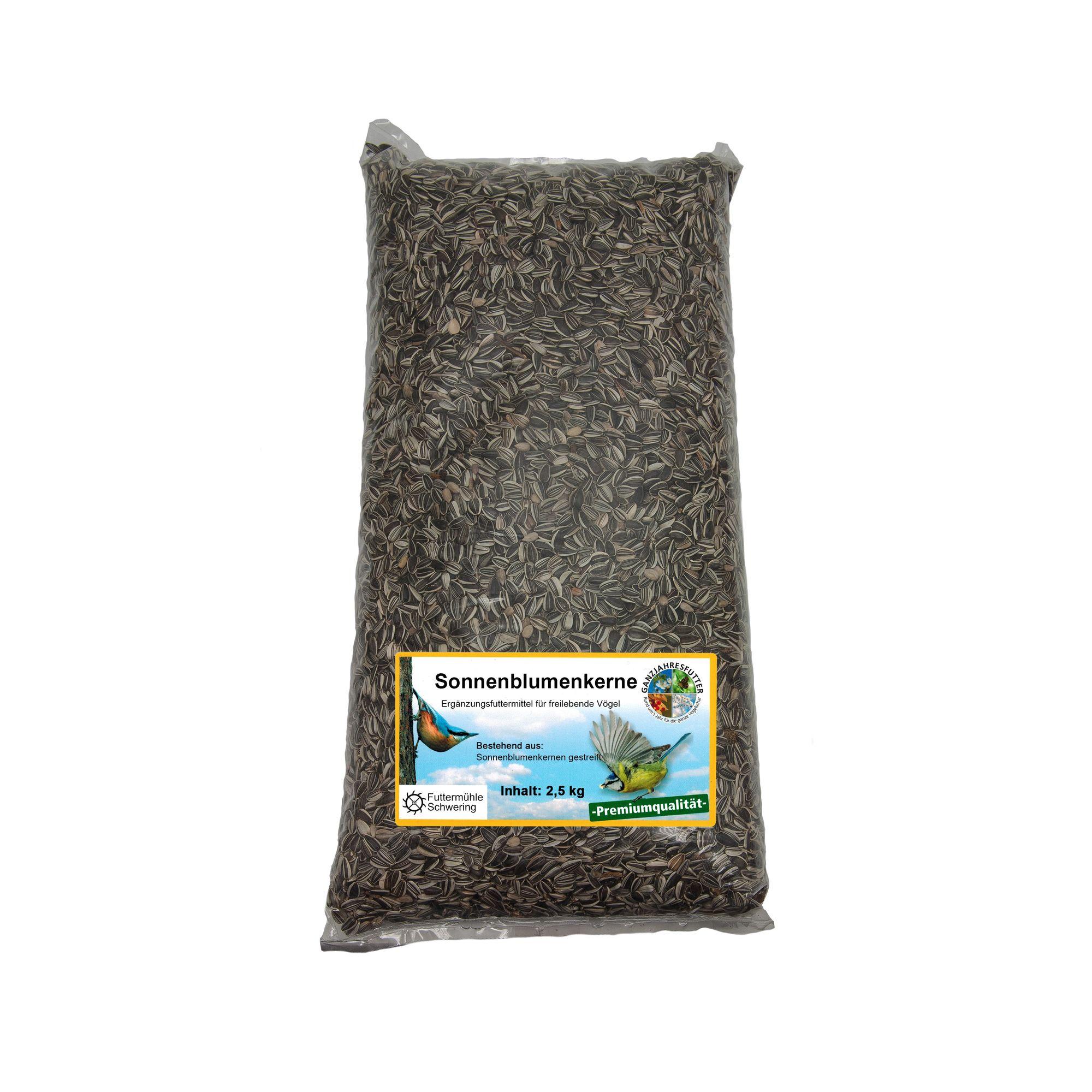 Sonnenblumenkerne, gestreift, 2,5 kg Btl.