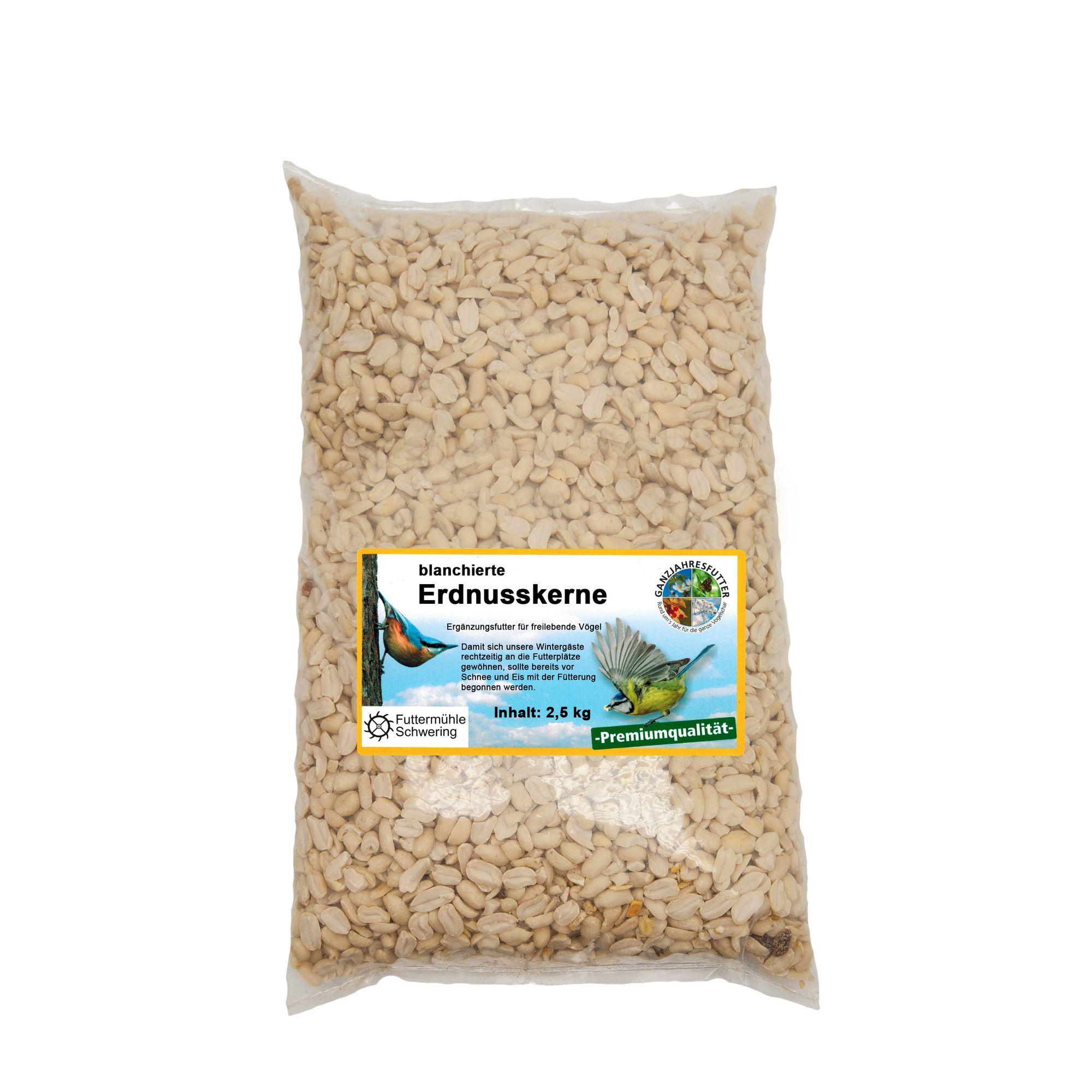 Erdnusskerne blanchiert, 2,5 kg Btl.