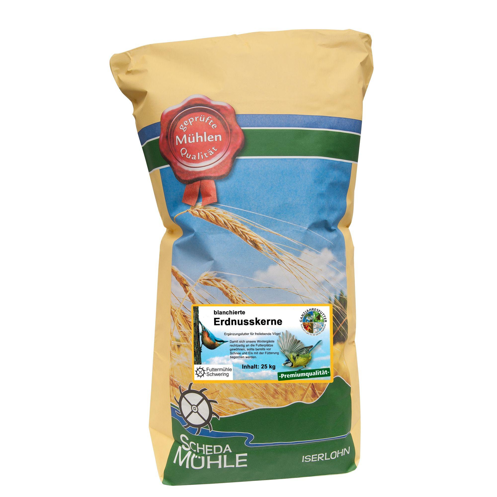 Erdnusskerne blanchiert, 25 kg Sack