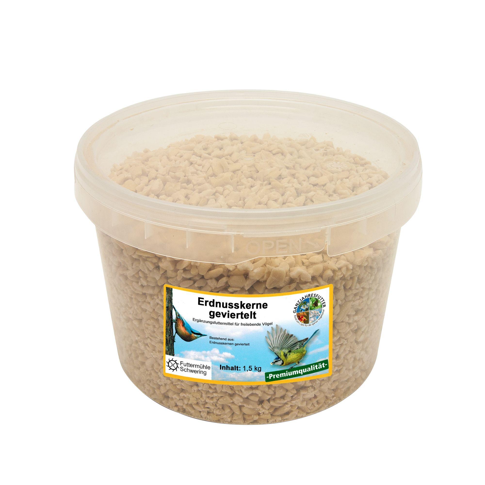 Erdnusskerne geviertelt 1,5 kg Eimer
