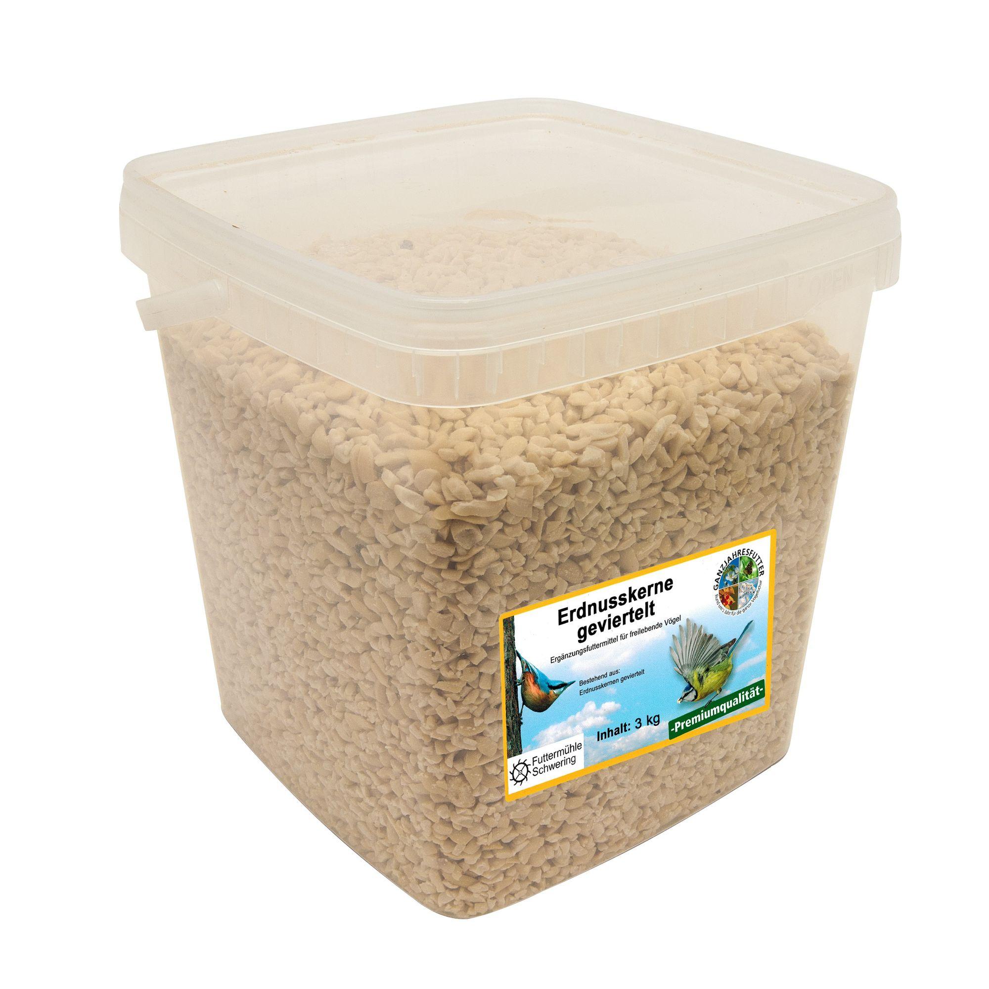 Erdnusskerne geviertelt 3 kg Eimer