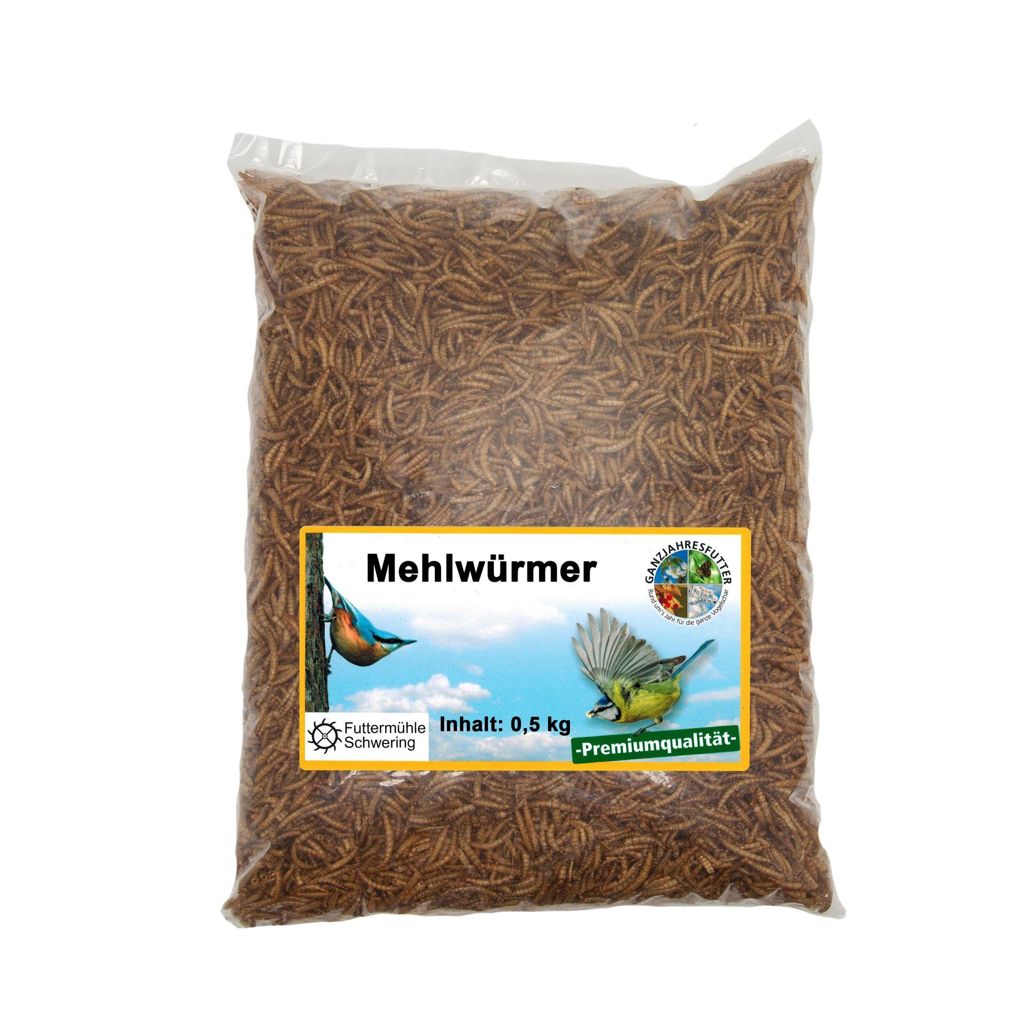 Mehlwürmer getrocknet 500g Beutel