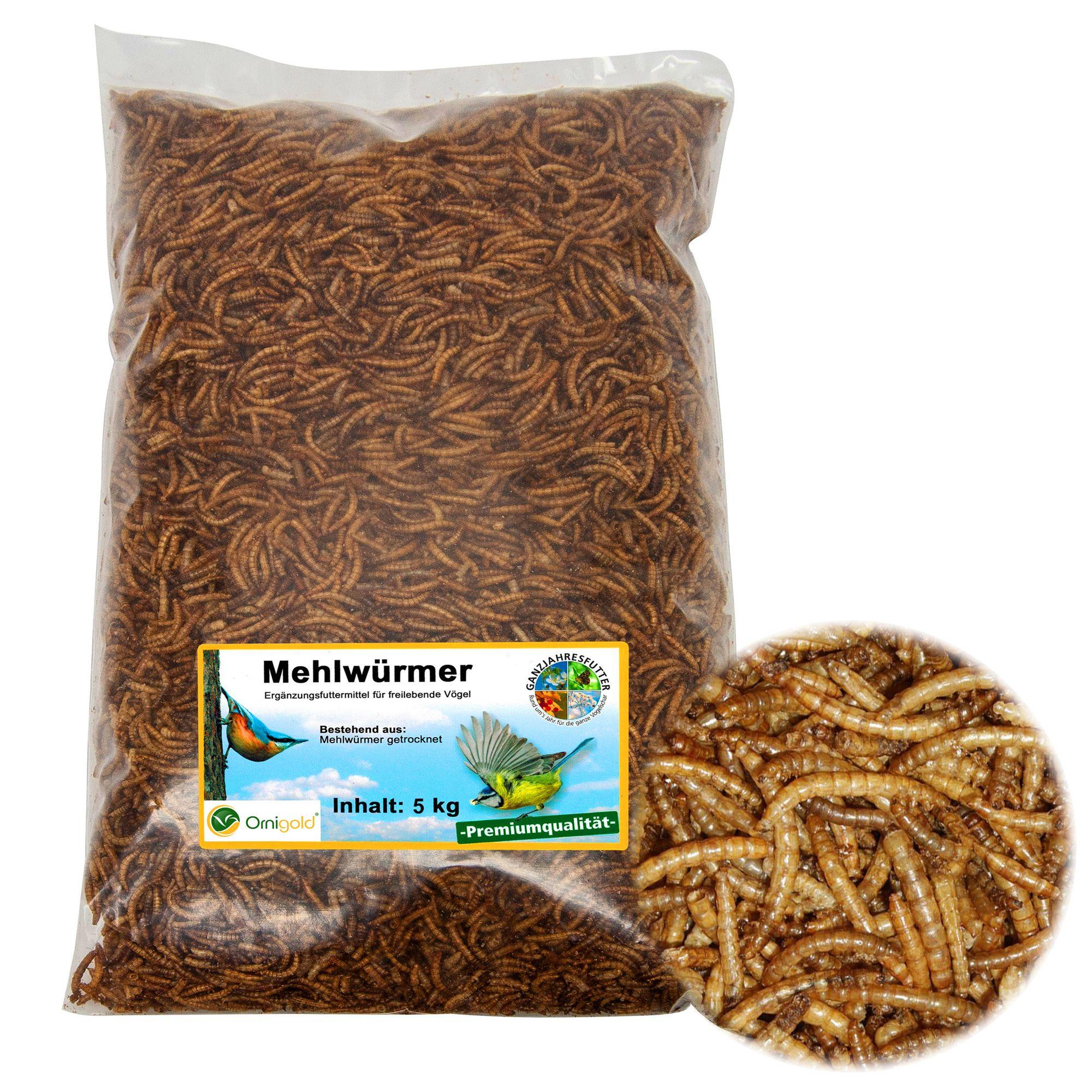 Mehlwürmer getrocknet 5 kg Beutel