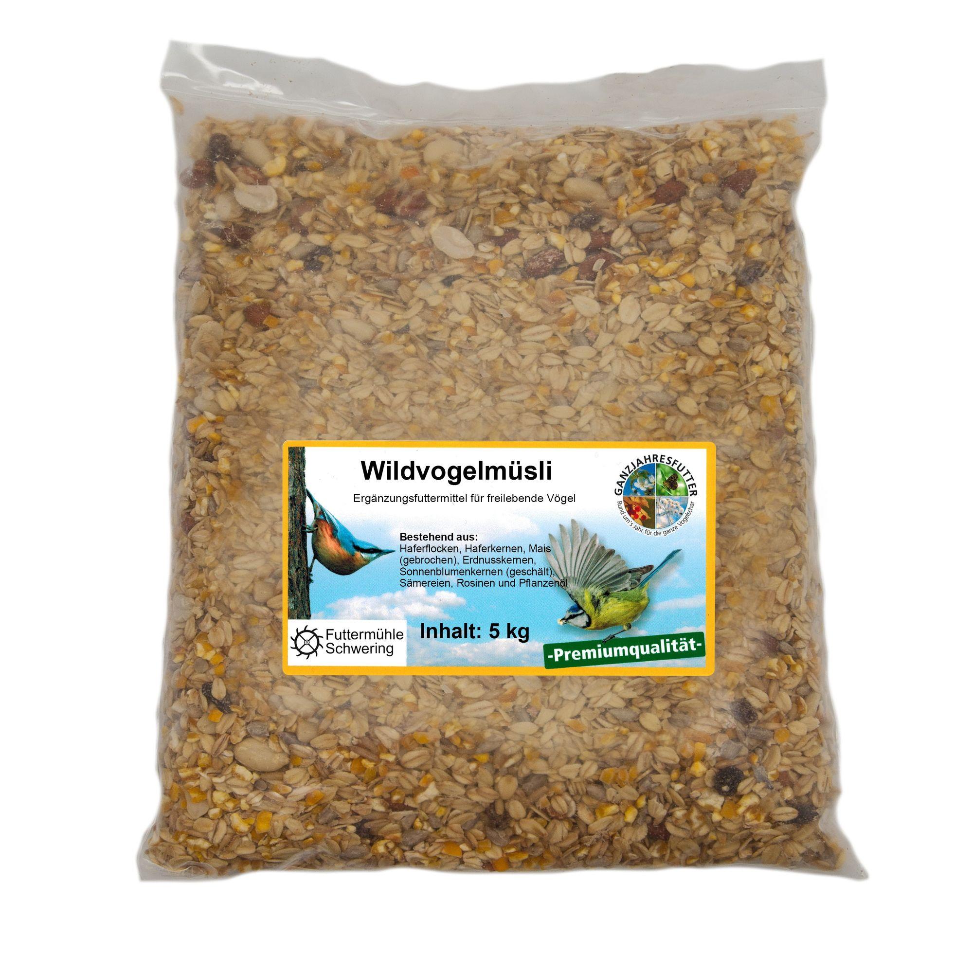 Wildvogelfutter Streupaket mit 5 Sorten Futter je 5kg