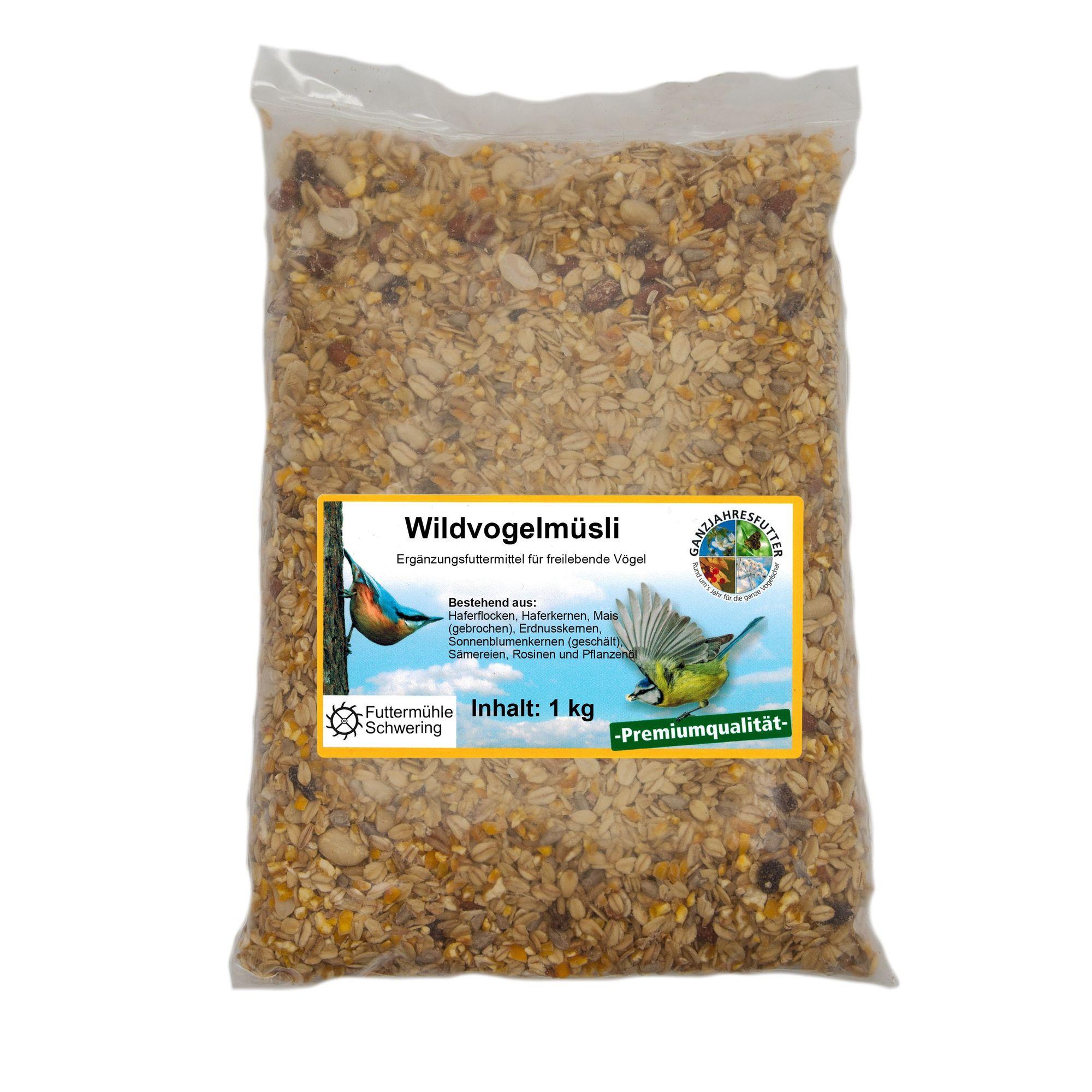 Wildvogelfutter Streupaket mit 5 Sorten Futter je 1kg