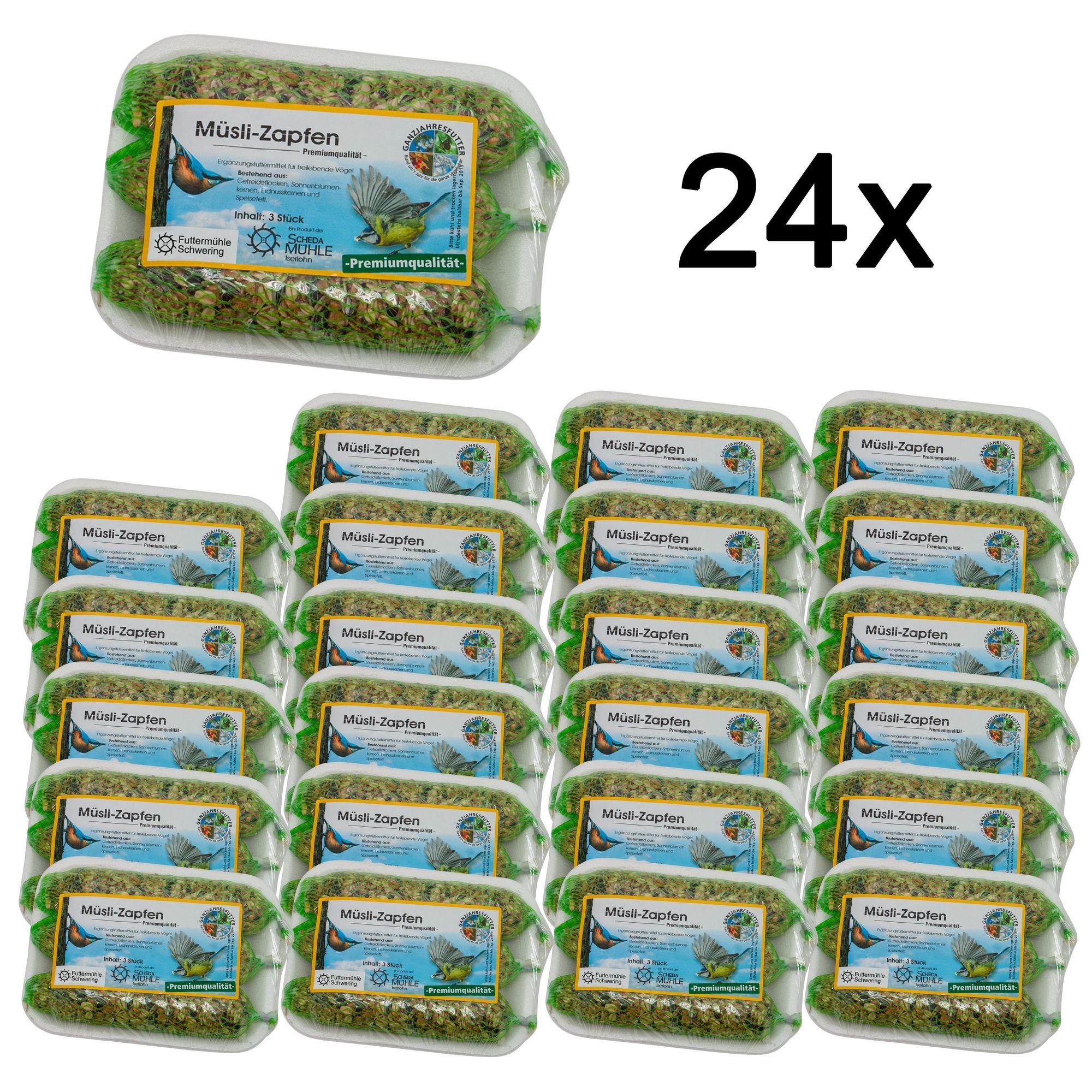 24 x Müsli-Zapfen, 3er Tablett im Sparpaket