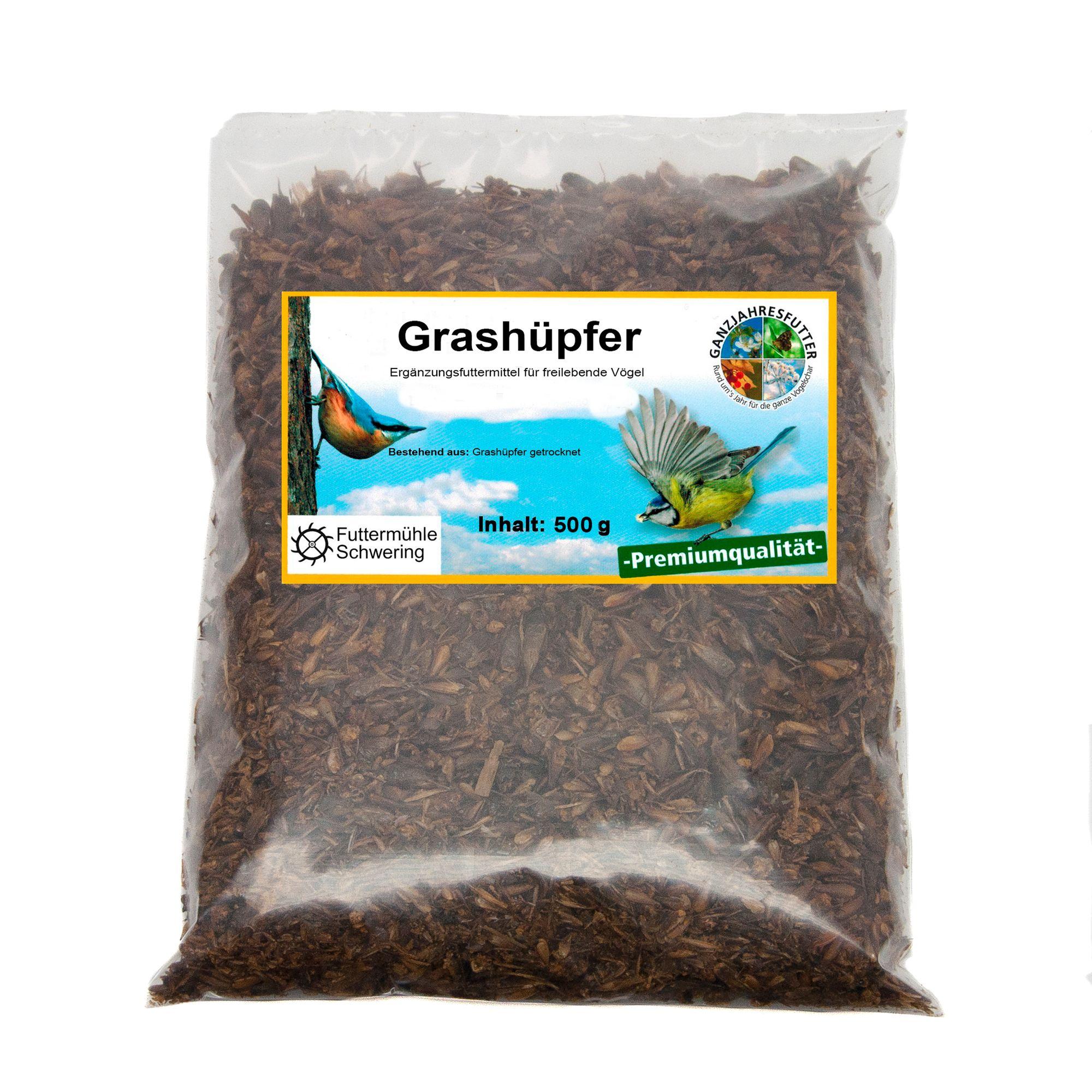 Grashüpfer getrocknet 500 g Beutel