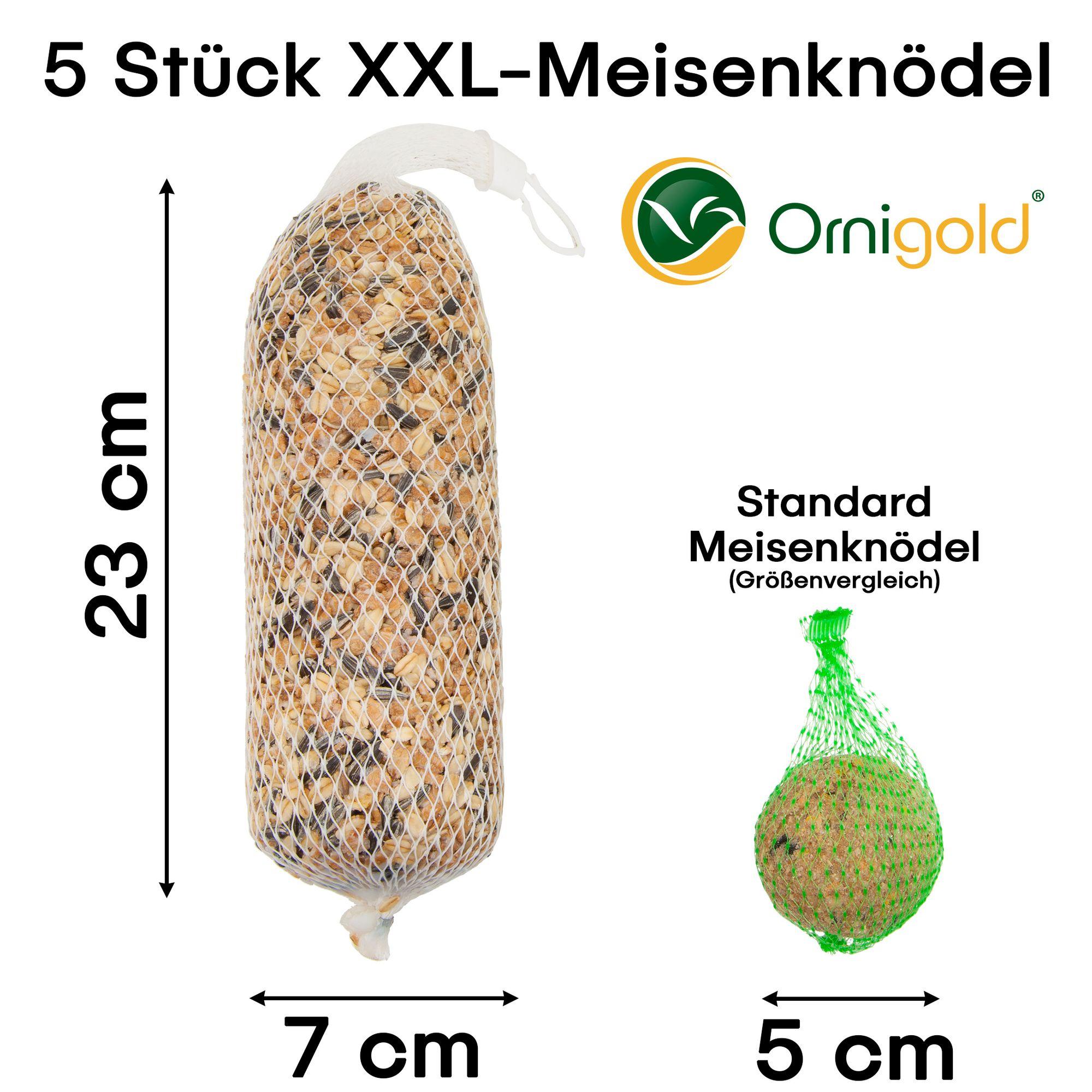 5 Premium Meisenknödel XXL mit Netz von Ornigold
