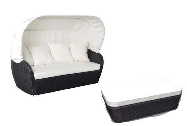 sonneninsel polyrattan sonneninsel polyrattan garten lounge chillout sofa mit baldachin xx cm. Black Bedroom Furniture Sets. Home Design Ideas