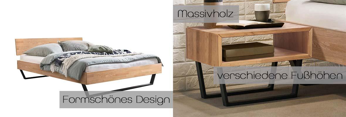 Massivholzbett Asti, Details, Detailbild