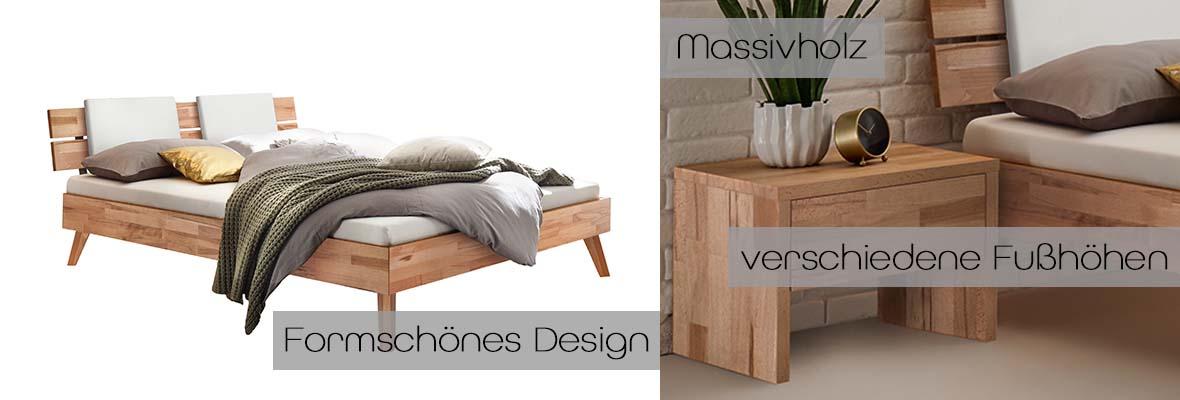 Massivholzbett Ortona, Detailbild, Details, Massivholzbetten, Holzbett, Holzbetten, Bett, Betten, Hasena