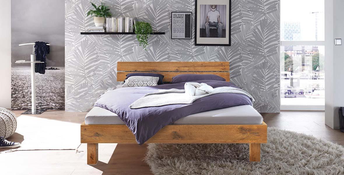 Massivholzbett Prato, Massivholzbetten, Holzbett, Holzbetten, Bett, Betten, Hasena