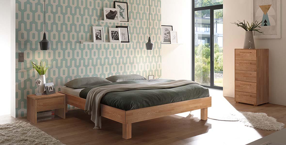 Massivholzbett Rapallo, Massivholzbetten, Holzbett, Holzbetten, Bett, Betten, Hasena