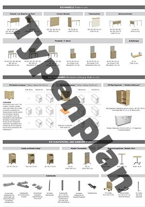 Typenplan eRange, E10 - Typenplan - Paneele, Container, Zusatzmöbel & Zubehör