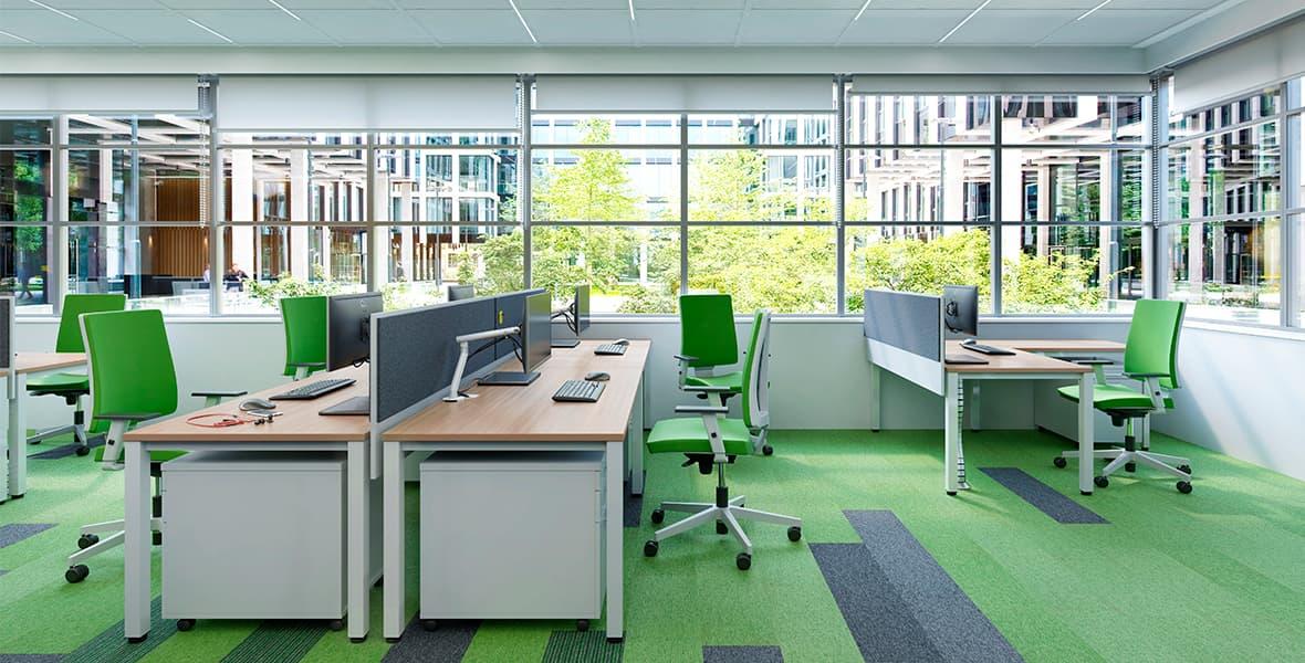 Ansprechendes Design und durchdachte Lösungen für dynamische Büros - das ist E10