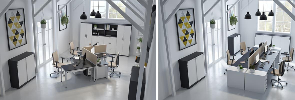 E10 - Effiziente und vielseitige Einrichtungslösungen für jeden Büroraum