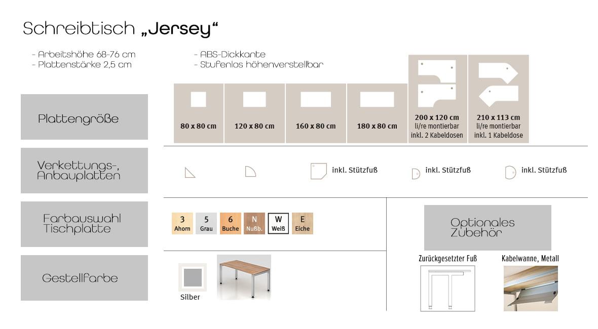Schreibtisch Jersey – Möbel von Hammerbacher