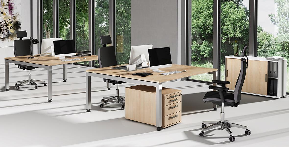 Das Büromöbelprogramm Jersey von Hammerbacher