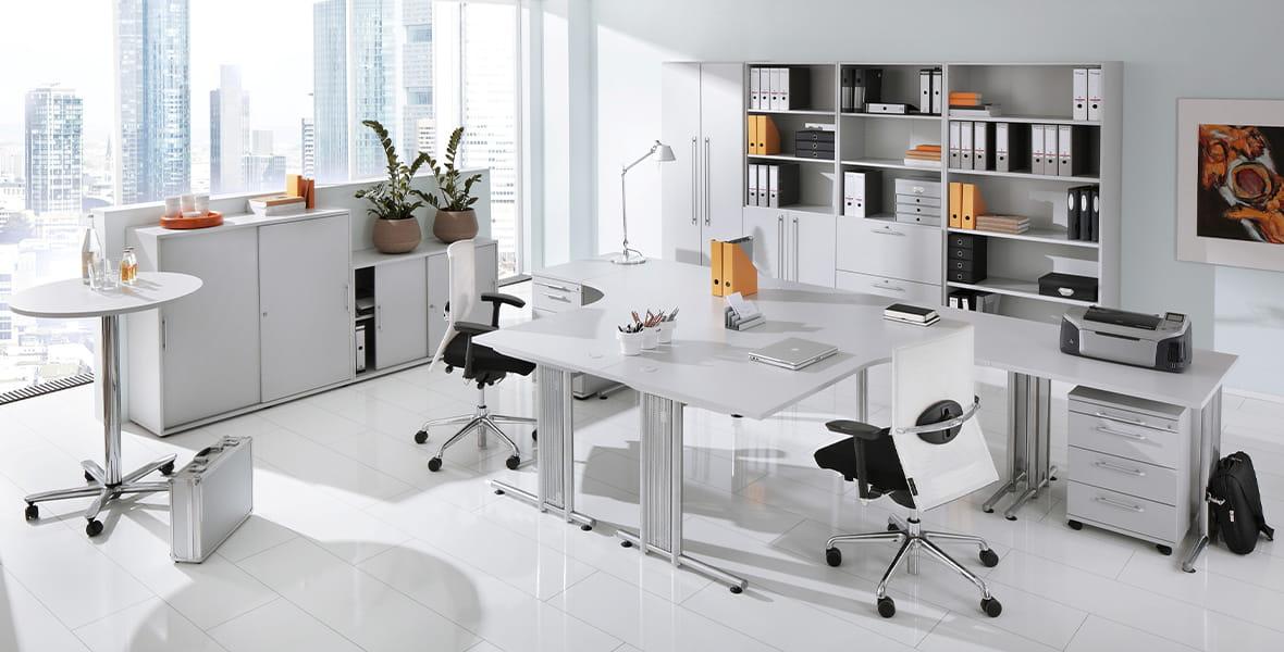 Büromöbel – Büromöbelprogramm Naples | Komplettbüro der Serie Naples online bestellen – Möbel von Hammerbacher ✓
