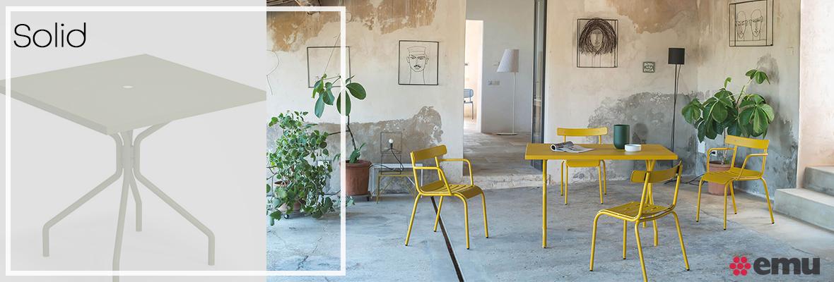 EMU Solid, Gartenmöbel Set, Gartentisch, Gartenstühle, EMU Designer Möbel