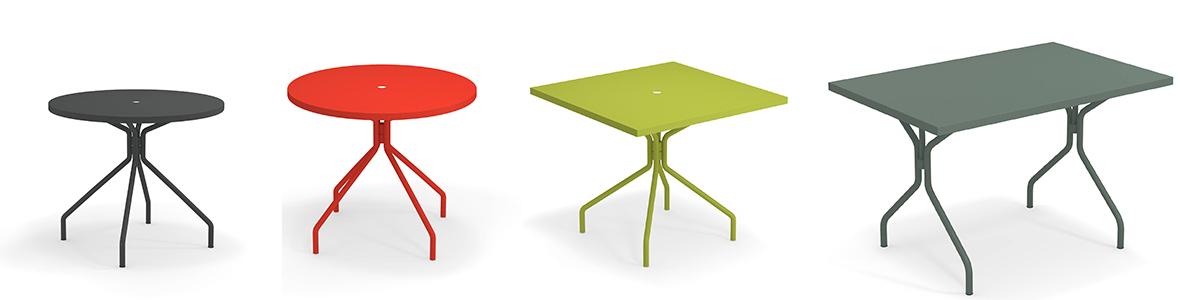 Solid kennzeichnet sich durch die zweckmäßige Tischplatte aus Blech aus, für die unterschiedlichsten Bedürfnisse.