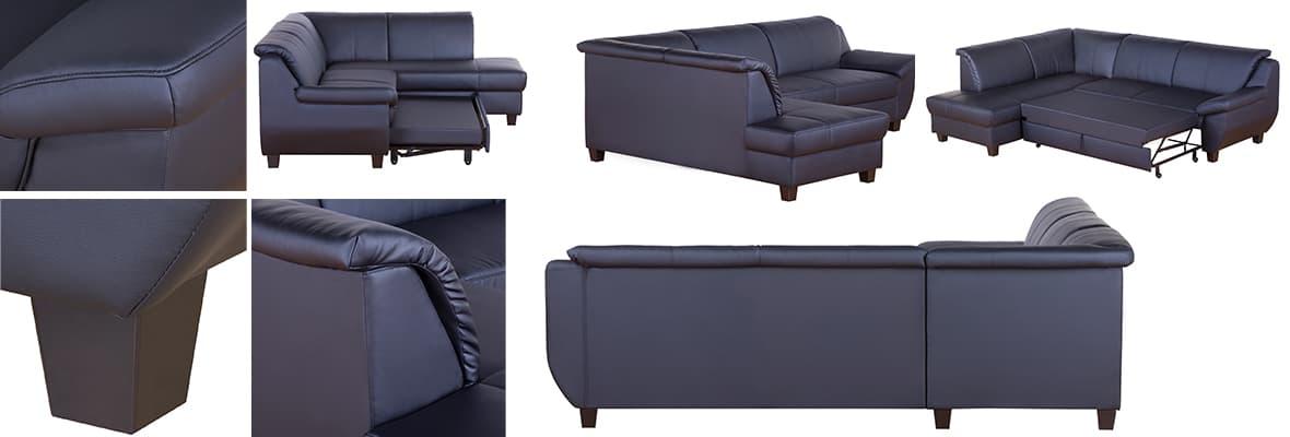 Ecksofa Casoria, Besonders hervorzuheben ist das zeitlose und perfekte Design.