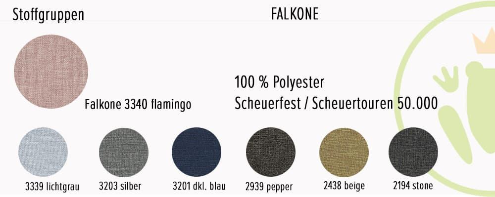 Ecksofa Jesolo: Farbvarianten und Stoffinformationen - Stoffvariante 1