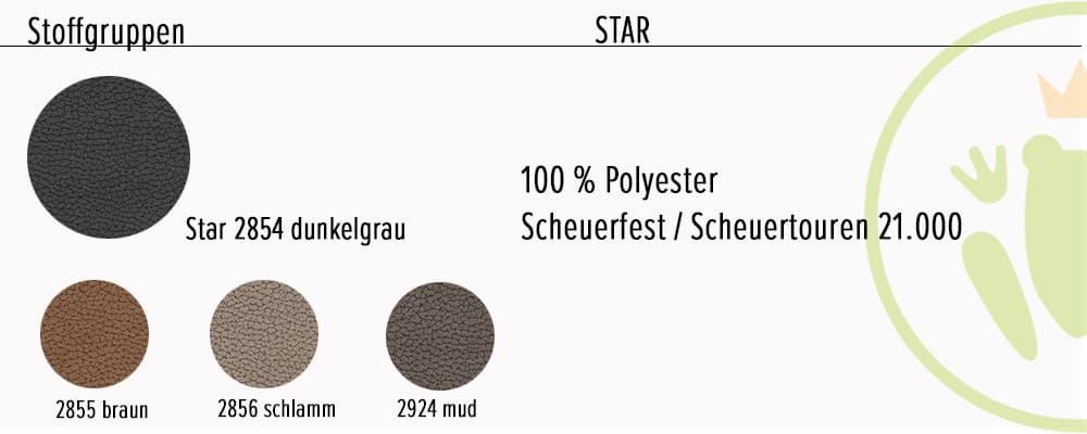 Stoff 2: Star, Wohnlandschaft Dorio