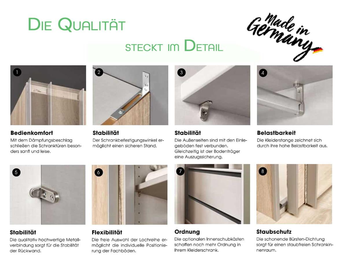 Detailbilder der Swift-Kleiderschrank-Serie