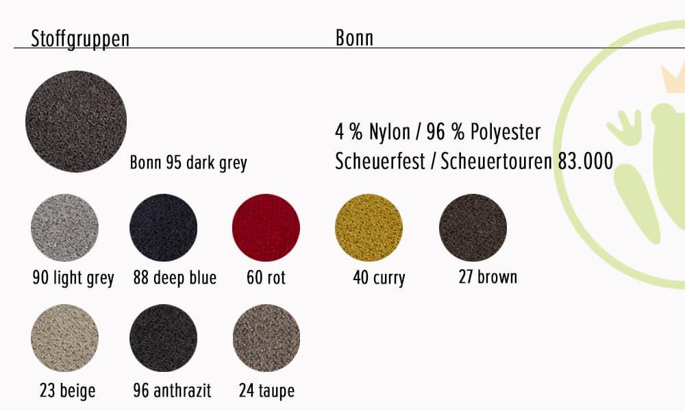 Farbvarianten und Stoffinformationen, Lopez Ecksofa