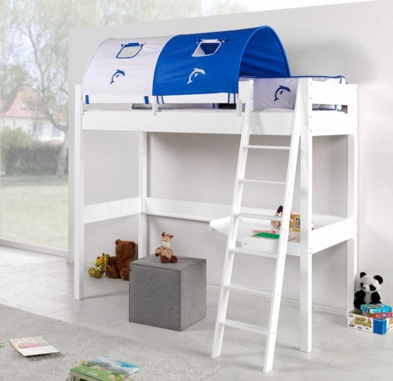 Hochbett Renate Multifunktionsbett Mit Schreibtisch Bett Weiß
