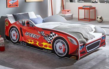 Autobett SPEEDY Rennfahrerbett Kinderbett Spielbett Bett Rot – Bild 1