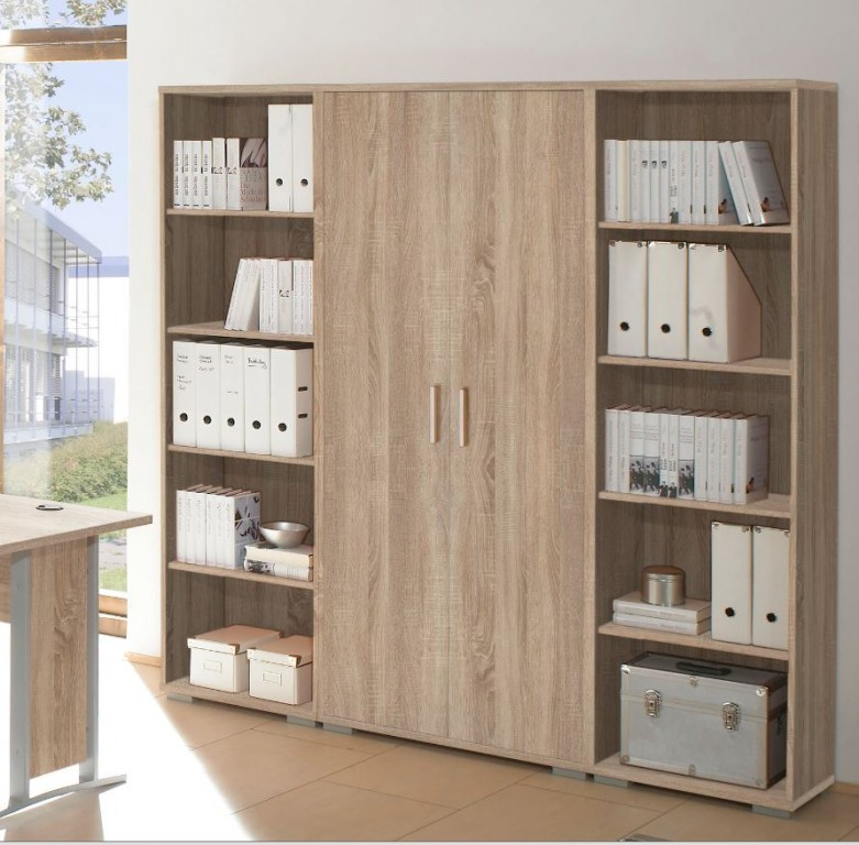 office line t renschrank schrank 5 oh sideboard homeoffice eiche sonoma ebay. Black Bedroom Furniture Sets. Home Design Ideas