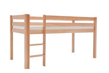 Hochbett ALEX Kinderbett Spielbett Bett Natur – Bild 1