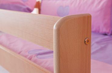 Hochbett ALEX Kinderbett Spielbett Bett Natur Stoffset Burg – Bild 3