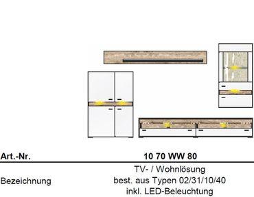 ** SONDERPREIS ** Inside Wohnkombination TV-Kombination Wohnwand Wohnzimmer-Set – Bild 5