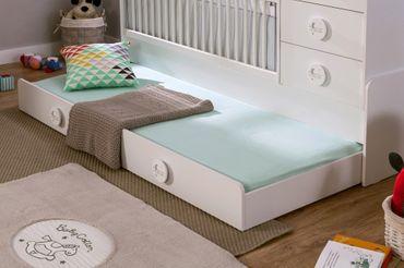 Cilek BABY COTTON Babybett XL Bett inkl. Himmel Kinderbett Kinderzimmer Weiß – Bild 4