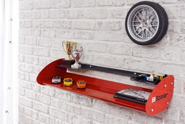 Cilek CHAMPION RACER Regal Hängeregal Wandboard Rot – Bild 1