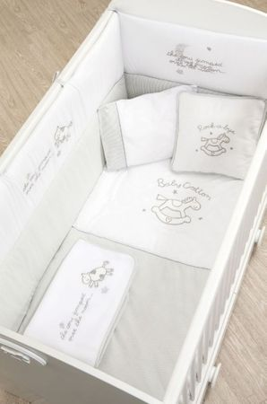 Cilek BABY COTTON 7tlg Baby Set XL Babydecke Kissen Gitterschutz Bettdeckenbezug – Bild 1