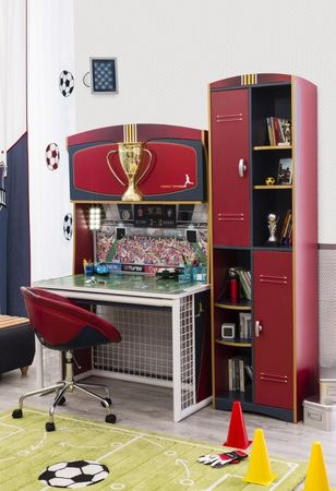 Cilek FOOTBALL Regal Bücherregal Türenregal Schrank Standregal Fußball – Bild 3