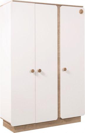 Cilek NATURA BABY Kleiderschrank Schrank Kinderzimmer Weiß/Natur – Bild 2