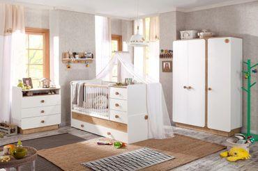 Cilek NATURA BABY Babybett XL mitwachsend Kinderbett Bett Weiß / Natur – Bild 5