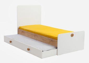 Cilek NATURA BABY Babybett XL mitwachsend Kinderbett Bett Weiß / Natur – Bild 6