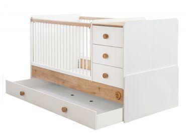 Cilek NATURA BABY Babybett XL mitwachsend Kinderbett Bett Weiß / Natur – Bild 2