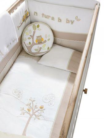 Cilek NATURA BABY 7-tlg. Bettwäsche Set XL Babydecke Kissen Gitterschutz  – Bild 1