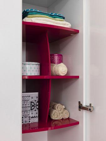 Cilek YAKUT Kleiderschrank Schrank Kinderkleiderschrank Weiß/Pink – Bild 5