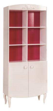 Cilek YAKUT Bücherregal Regal Standregal Kinderzimmer Weiß/Pink – Bild 2