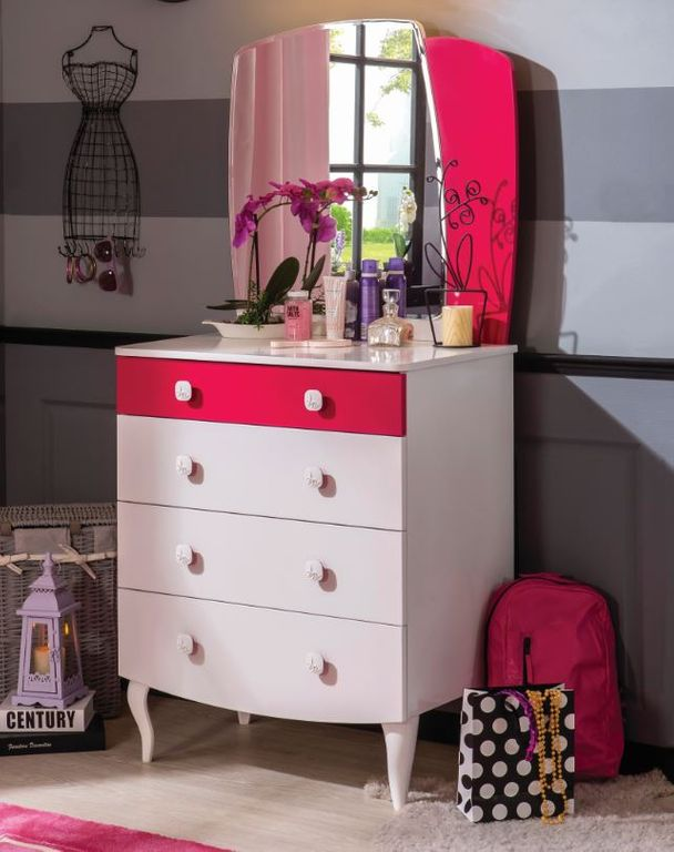 cilek yakut kommode sideboard anrichte kinderzimmer wei pink kids teens regale kommoden. Black Bedroom Furniture Sets. Home Design Ideas