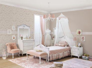 Cilek ROMANTIC Kinderbett Bett 100x200cm Kinderzimmer Weiß – Bild 5